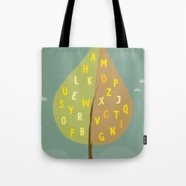 Alphapet Tree Tote Bag