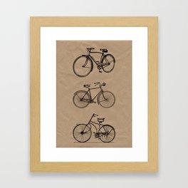 Vintage bicycle artwork Framed Art Print