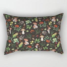 Fall Mushrooms Pattern Rectangular Pillow