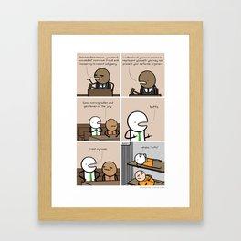 Antics #131 - master of word things Framed Art Print