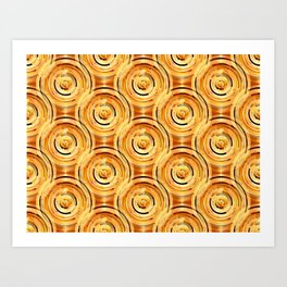 Gold Circles Art Print