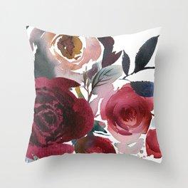 Rojo Floral Throw Pillow