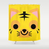 wrestling Shower Curtains featuring Wrestling Academy Pepe by TokyoCandies