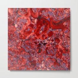 Marble Ruby Blood Red Agate Metal Print