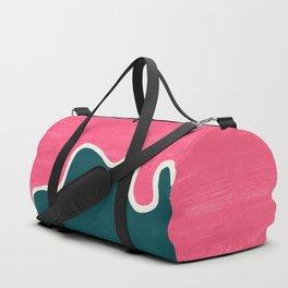London Abstract Pink Duffle Bag
