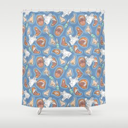 Flu Shower Curtain
