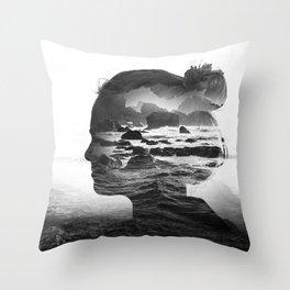 The Black Sea Inside Me Throw Pillow