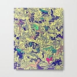 Kamasutra LOVE - Piss Yellow Metal Print