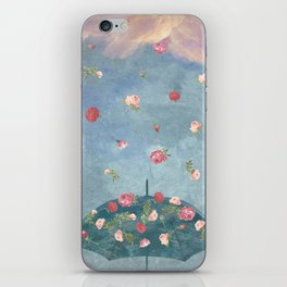 I Wished for a Rose Rain for You iPhone Skin