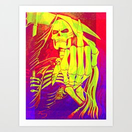 Digitally edited Painting 'Grim Reaper' Art Print