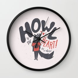 Howl to the Heart Wall Clock