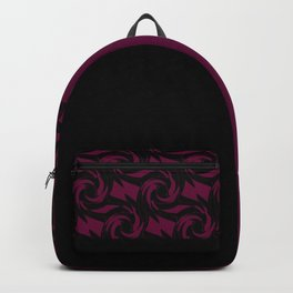 Abstract combo black and Burgundy decor Backpack