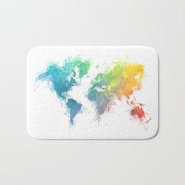 World Map splash 1 Bath Mat