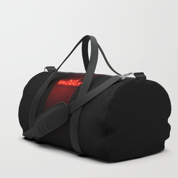 No Vacancy sign in red Duffle Bag
