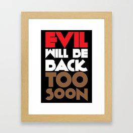 Evil Framed Art Print