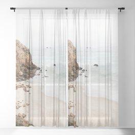 Malibu California Beach Sheer Curtain