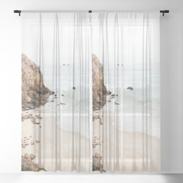 Malibu California Beach Sheer Curtain