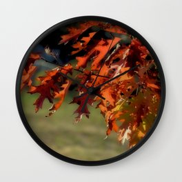 SOFT FALL COLOR LEAVES Wall Clock
