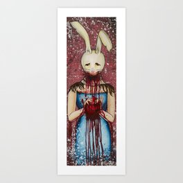 Heart Eater (Girl) Art Print