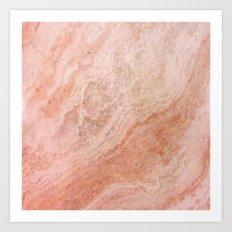 Polished Rose Gold Marble Art Print