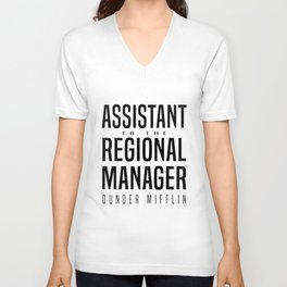 assistant to the regional manager girlfriend Unisex V-Neck
