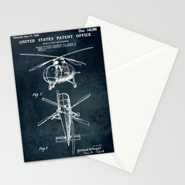 Design for a Helicopter Stationery Cards
