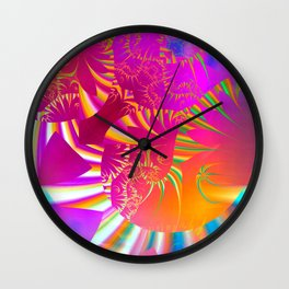 All in the Mind (magenta-orange-blue) Wall Clock