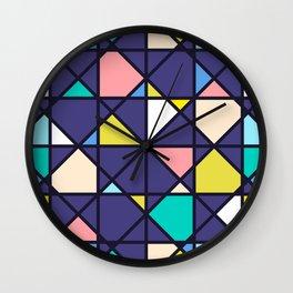Geometric Architectural Design Kaleidoscope Colored Pattern Wall Clock
