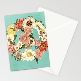 Botanica Peace sign Stationery Cards