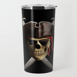 Pirate Skull And Swords Travel Mug