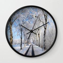 Winter-avenue Wall Clock
