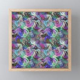 Abstract Swirls Deep Rich Jewel Tones Digital Design Framed Mini Art Print