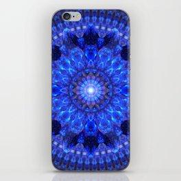 Azure Shield Mandala iPhone Skin