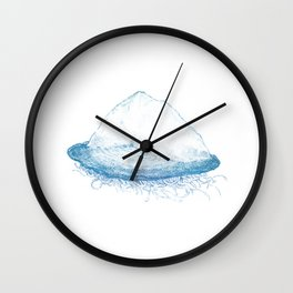 Velella velella (blue) Wall Clock