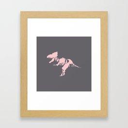 Pink T. rex Framed Art Print