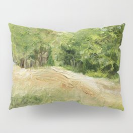 Dirt Road to Trees Oil Painting Pillow Sham