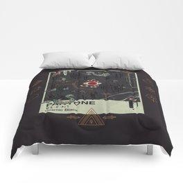 Cosmic Black Comforters