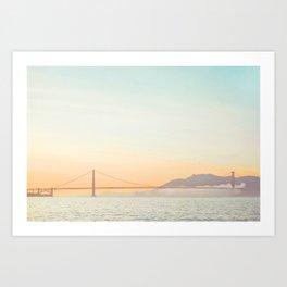 Pastel Golden Gate Art Print