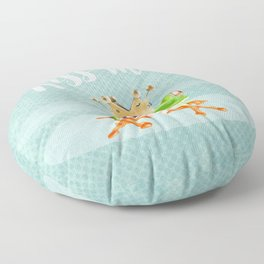 The frog prince Floor Pillow