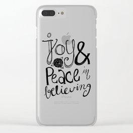 Romans 15:13 Clear iPhone Case