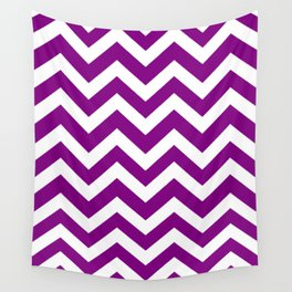 Patriarch - violet color - Zigzag Chevron Pattern Wall Tapestry
