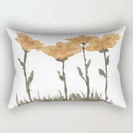 Snow Flowers Rectangular Pillow