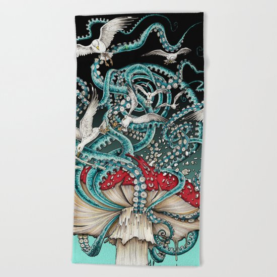 Flying the Agaric Beach Towel
