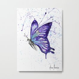 Lavender Butterfly Metal Print