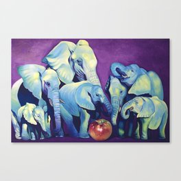 Elephat's Soccer Canvas Print