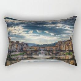 Ponte Vecchio, Arno River, Florence, Italy Rectangular Pillow