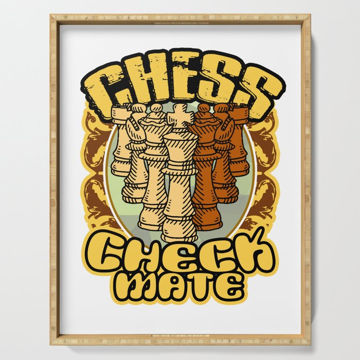 Chess Checkmate Strategy Board Game Chessboard Pieces Rules Play Gift  Serving Tray by tomgiant