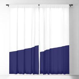 Stripe Block (navy blue/white) Blackout Curtain