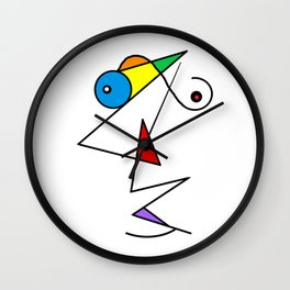 Colorful Perfection  Wall Clock