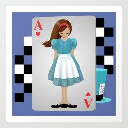 Alice 3D Flying Cards Art Print